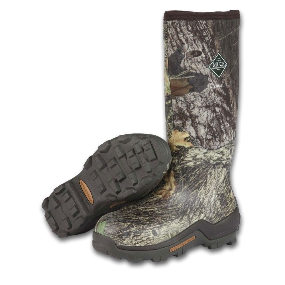 muck mens woody elite camo insulated rubber boots