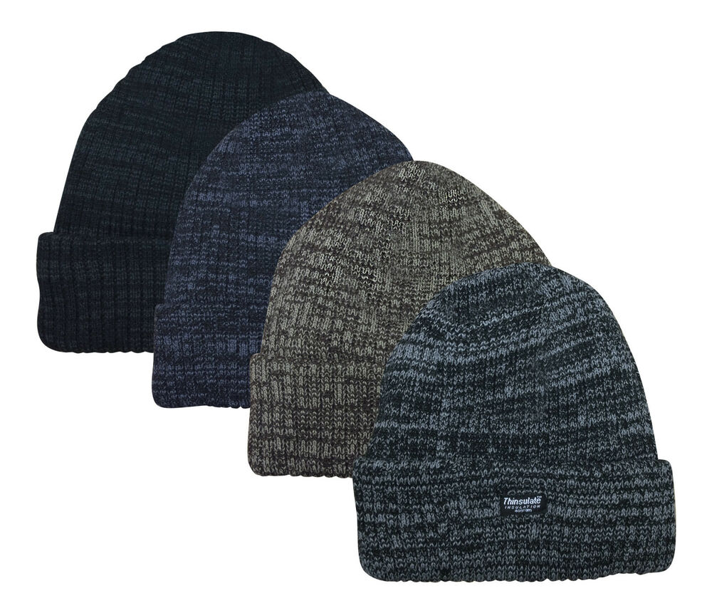 mens thinsulate thermal winter beanie hat one size ebay. Black Bedroom Furniture Sets. Home Design Ideas