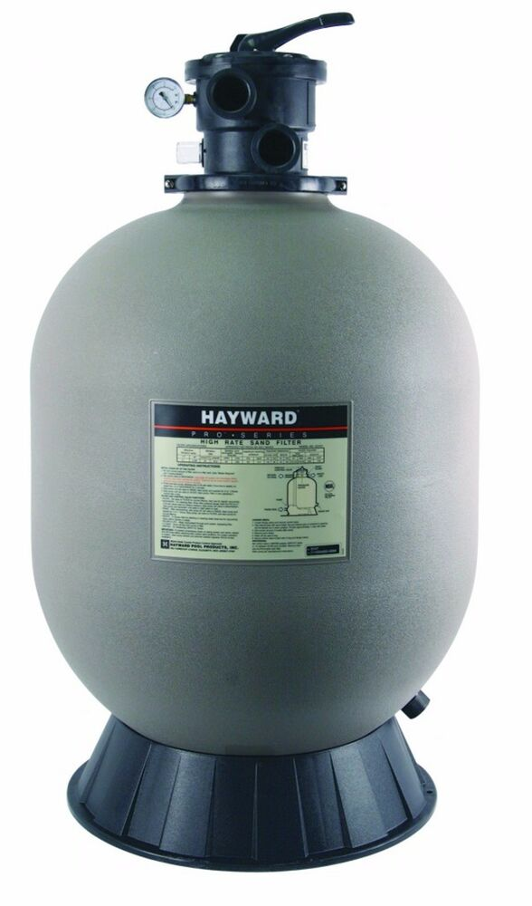 Hayward s180t pro series above ground swimming pool sand filter sp0714t valve ebay for Swimming pool sand filter parts