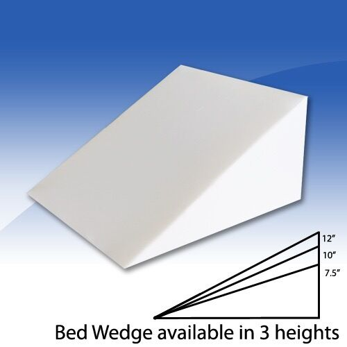 Foam Bed Wedge Pillow Cushion With Cover 3 Size Opitions