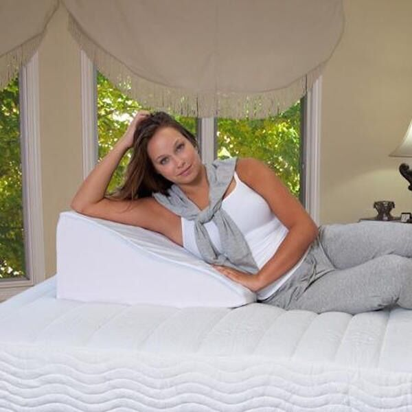 Foam Wedge Pillow Support Sleep Pillow Acid Reflux Neck