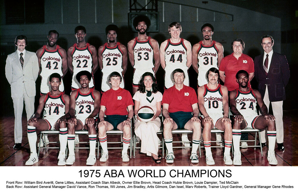 Kentucky Colonels 1974-75 ABA Champions, 6.5 x 10 Color ...