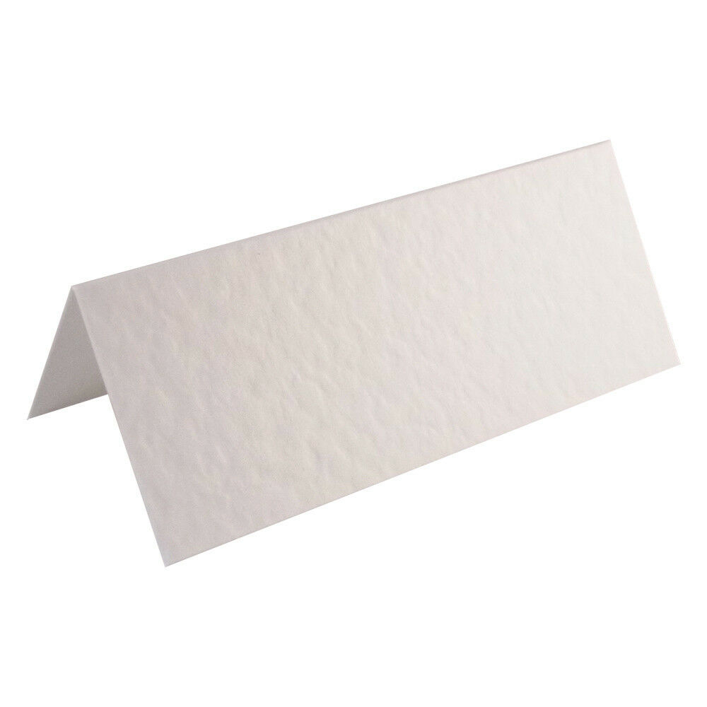 100 hammered white wedding table place name cards blank ebay for Table place cards