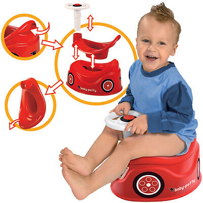 big baby potty t pfchen im bobby car design rot ebay. Black Bedroom Furniture Sets. Home Design Ideas