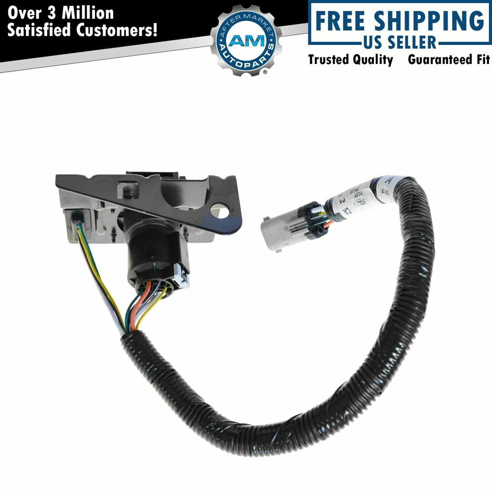 Ford F 350 Trailer Plug Wiring Harness Schematic 2019 Hitch Connector 4 7 Pin Tow W Bracket