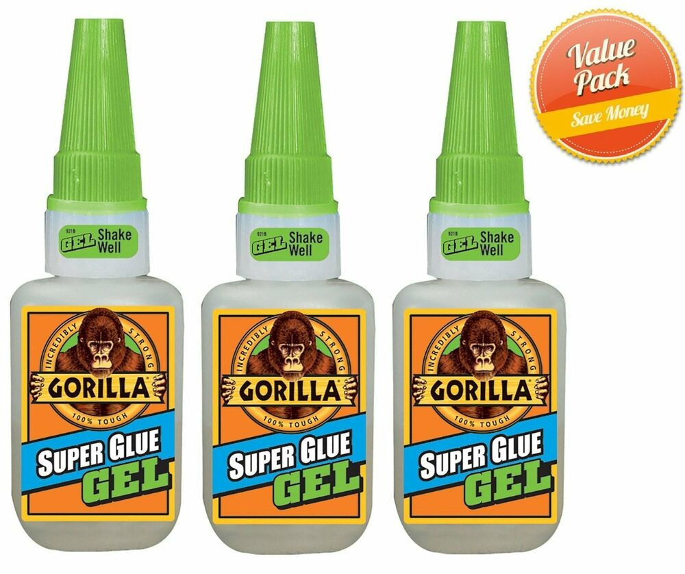 gorilla glue 15g super glue gel heavy duty clear 3 pack. Black Bedroom Furniture Sets. Home Design Ideas