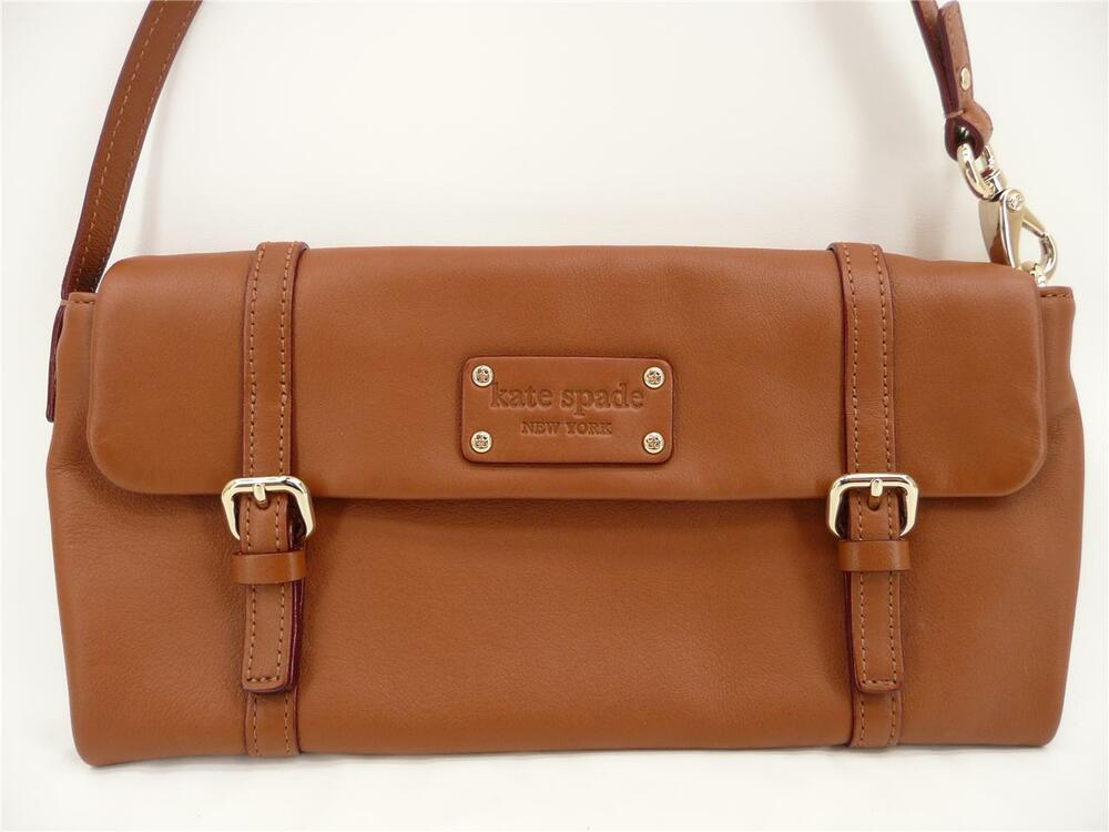 Kate Spade New York Brown Leather Double Buckle Clutch ...