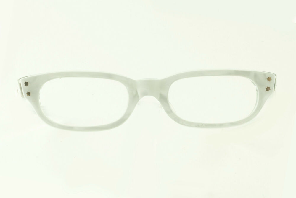 Eyeglass Frames With Pearls : VINTAGE 1950s LOLA SHINY WHITE PEARL EYEGLASS FRAMES ...