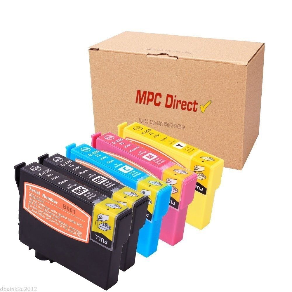 5 Pack T220XL 220XL Ink CARTRIDGE FOR Epson WorkForce WF