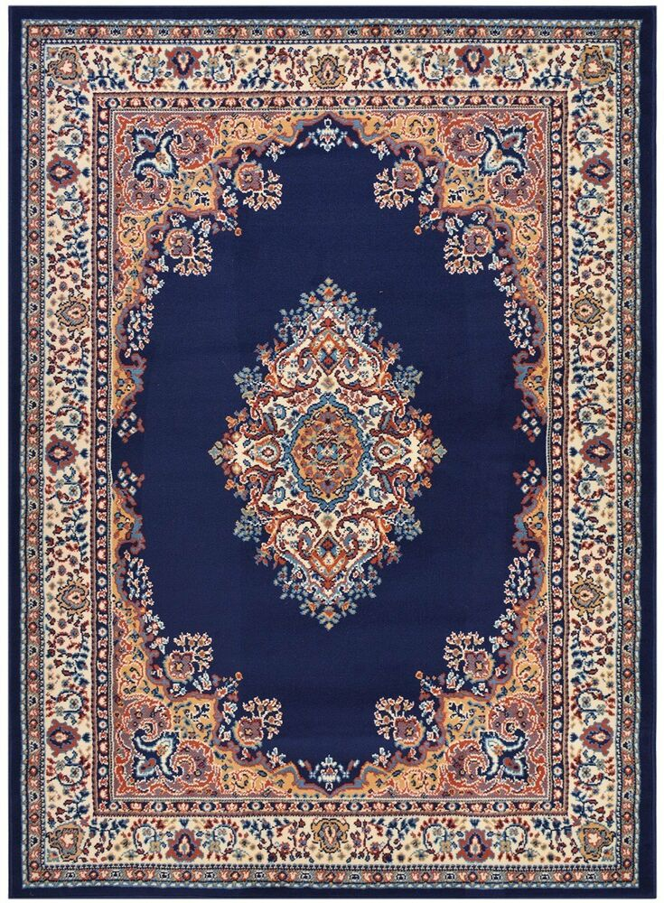 blue area rug madallion navy blue traditional area rugs carpet 13156