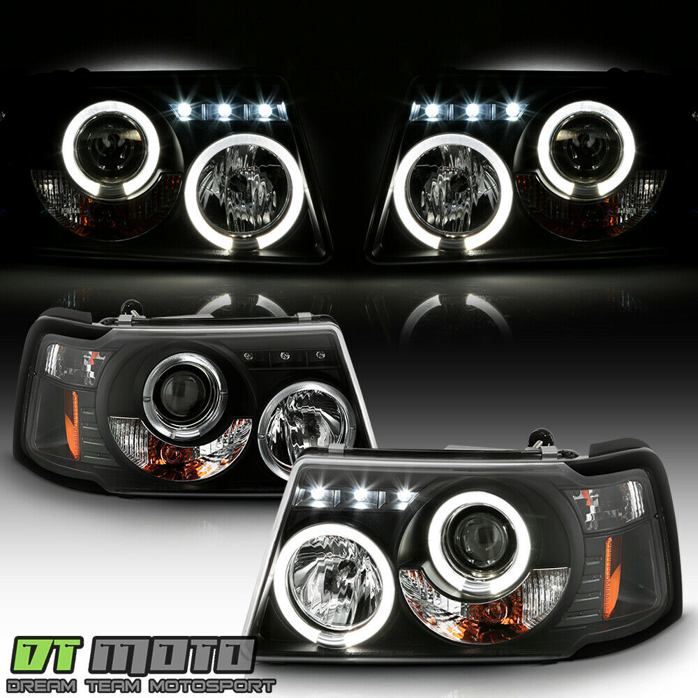Blk 2001 2017 Ford Ranger Led Halo Projector Headlights W Built In Corner Lamps Ebay