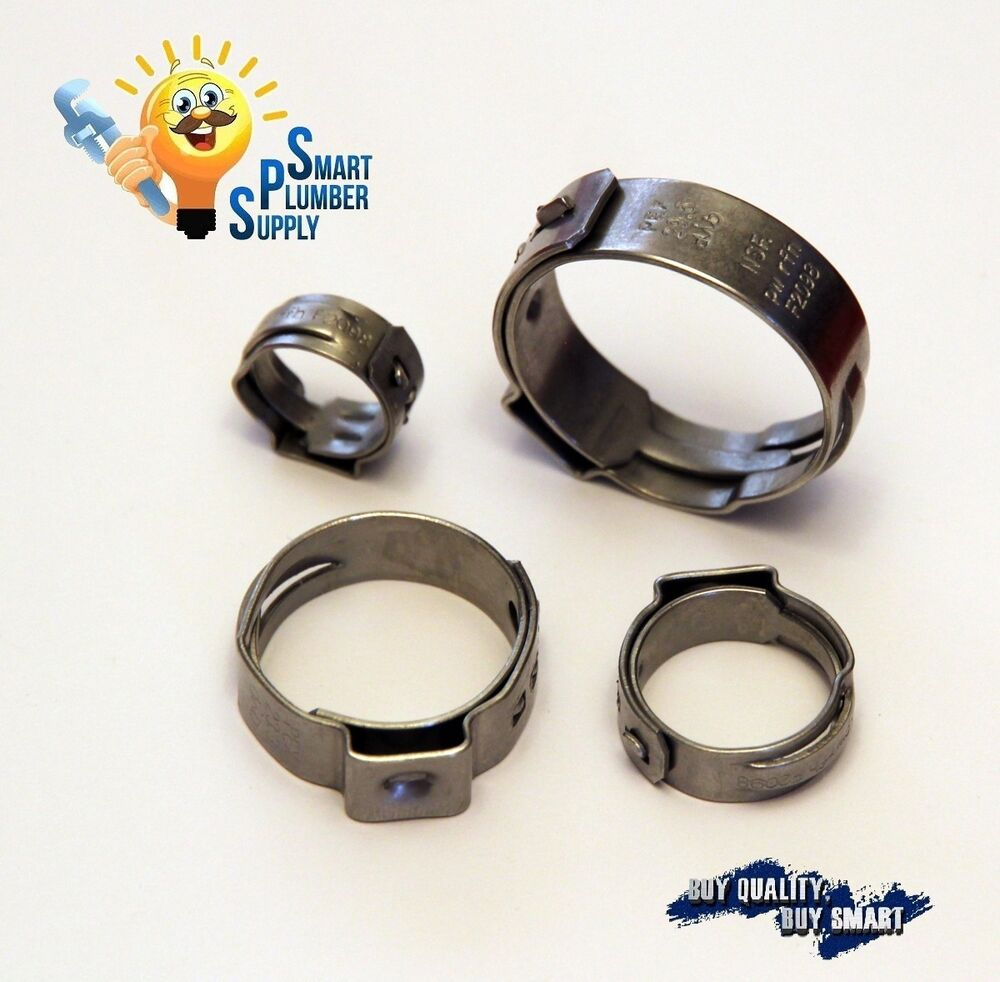 Quot stainless steel pex b cinch crimp ring lot of pc
