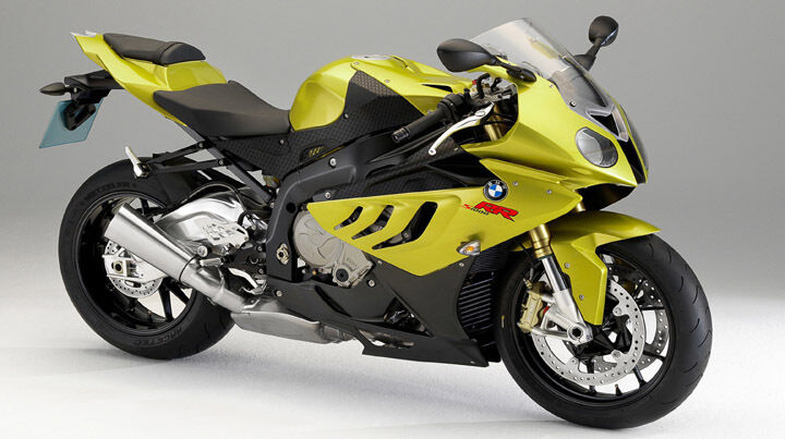 yellow bmw s1000rr motorcycle 42 x 24 large wall. Black Bedroom Furniture Sets. Home Design Ideas