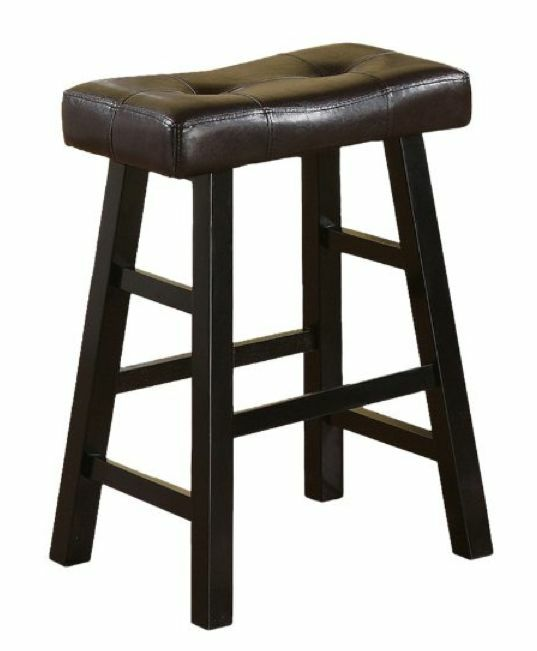 kitchen bar stools new wood kitchen counter 2 bar stool seat leather espresso 11369