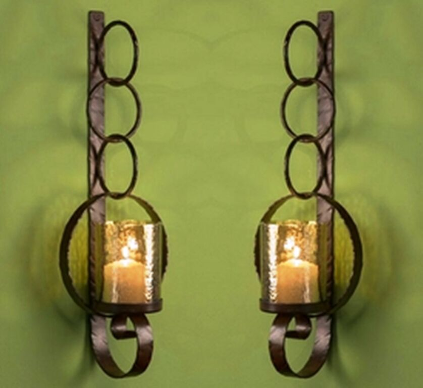Iron Candle Holder Wall Sconce : NEW TUSCAN LARGE 39