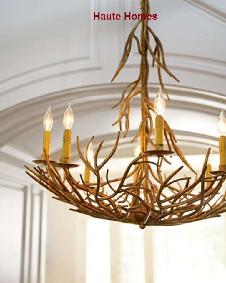 New Horchow Large 8 Lights Iron Twig Lodge Chandelier