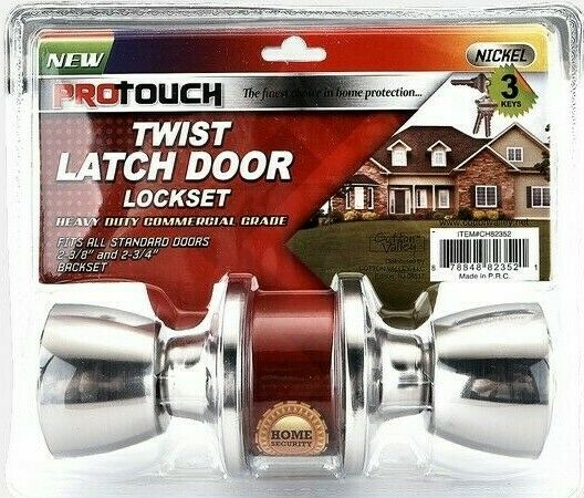 Key Entry Locked Polished Brass Door Knob Tulip Front And