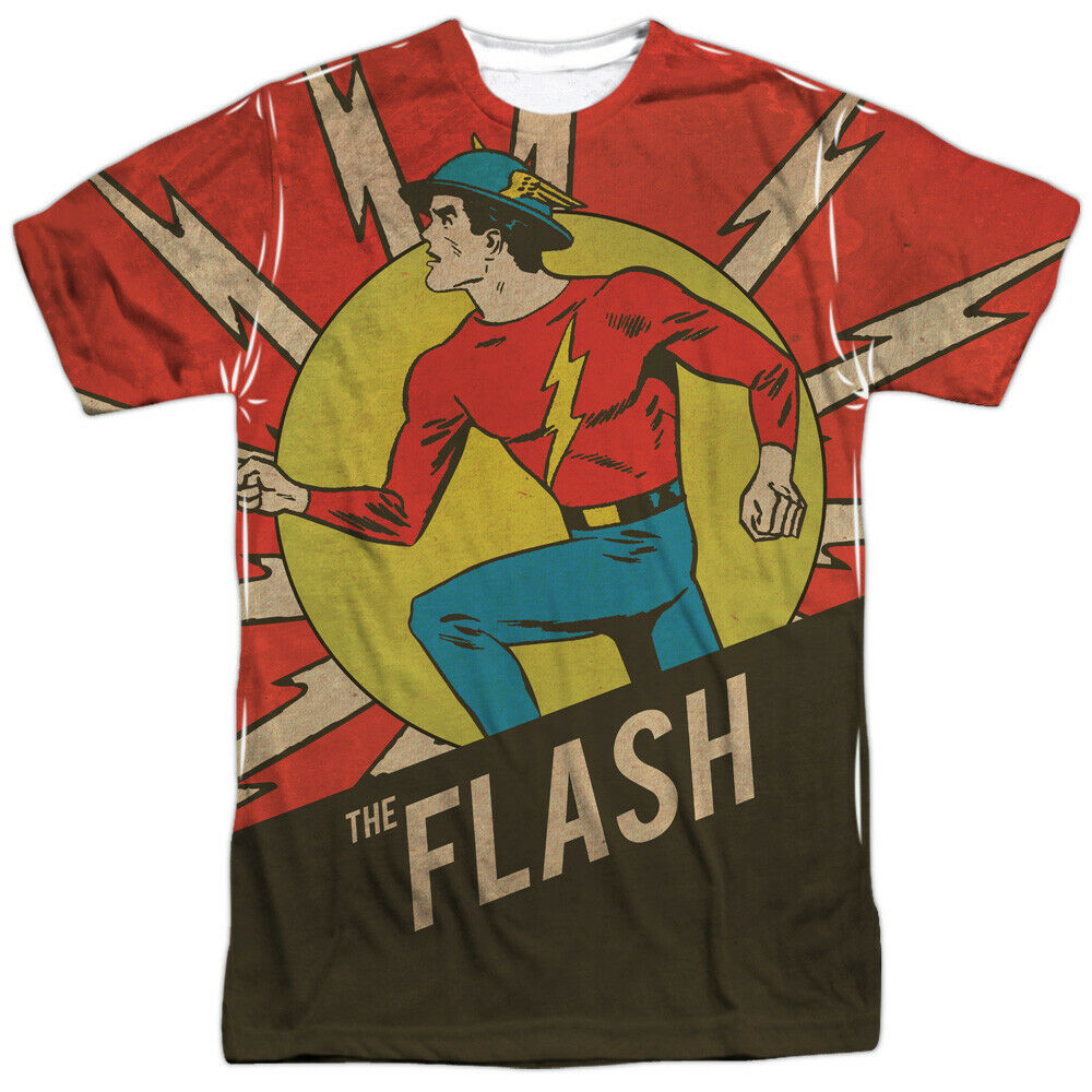 The Flash Vintage Comic Flash DC Comics Sublimation Adult ...