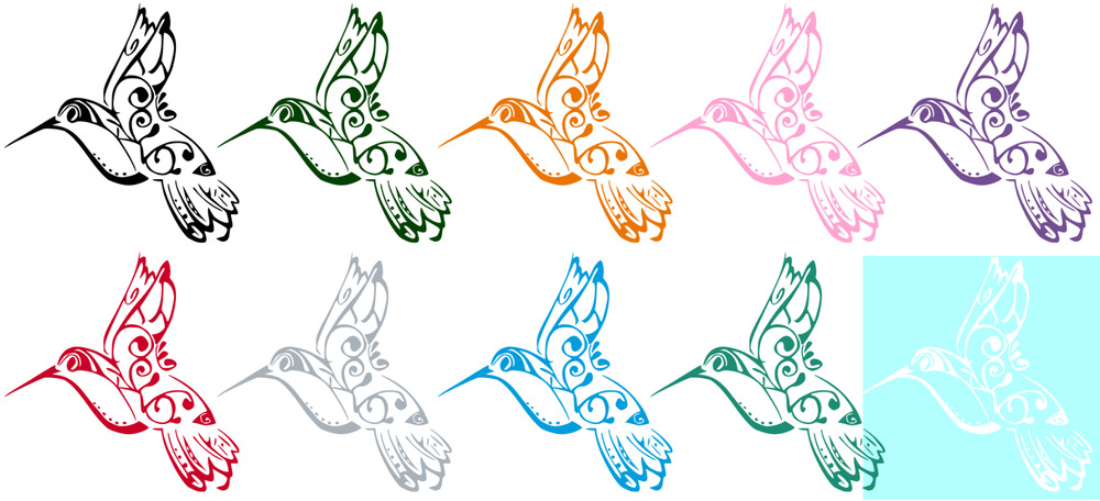 Hummingbird Vinyl Graphic Decal Sticker 10 Colors