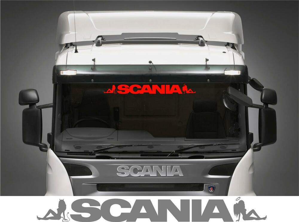 Scania Truck Screen Sticker Solid Letters Style With Angel