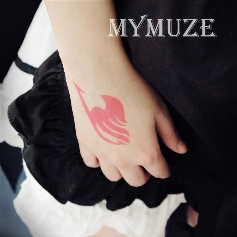 Fairy Tail Magic Association Cosplay Tattoo Sticker Lucy Heart Pink