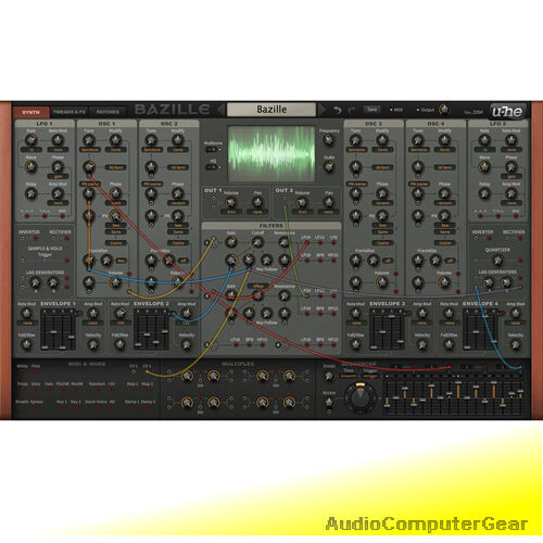 U he bazille large digital modular synthesizer software - U he diva ...