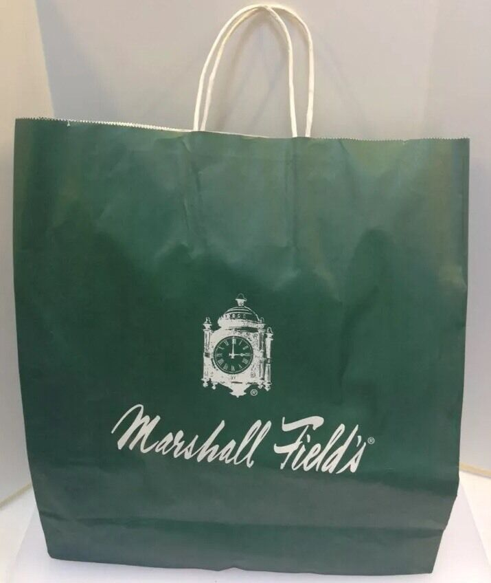Marshall Field S Fields Green Paper Shopping Bag