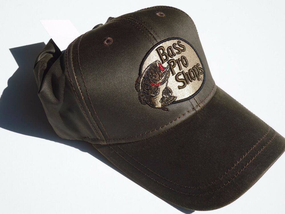 New brown canvas cotton style cap by bass pro shops adult for Bass fishing hats