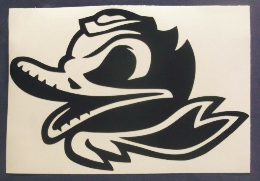 Oregon Ducks Combat Duck Decal Car Window Sticker Vinyl 6