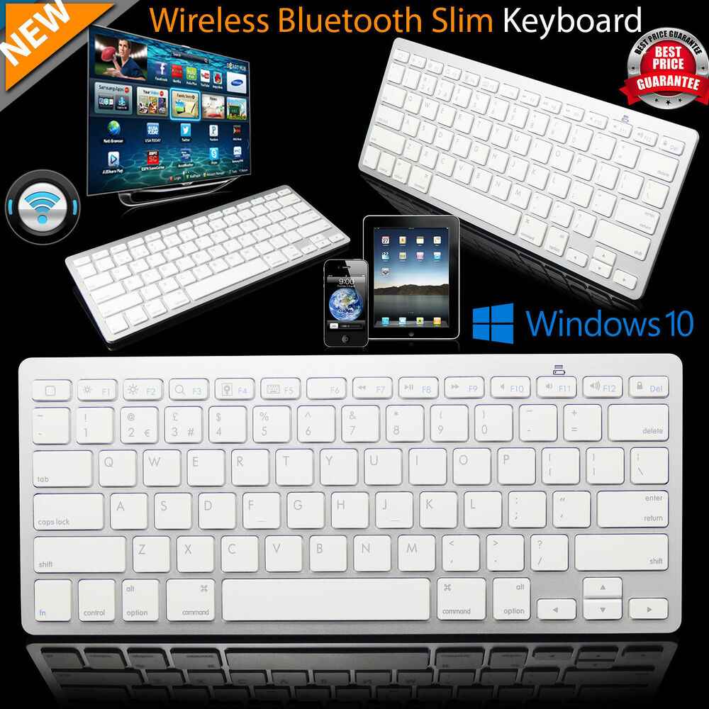 new slim wireless bluetooth keyboard for imac ipad android phone tablet pc uk ebay. Black Bedroom Furniture Sets. Home Design Ideas
