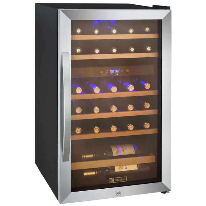dual zone wine cooler allavino 29 bottle wine cooler refrigerator stainless 31169