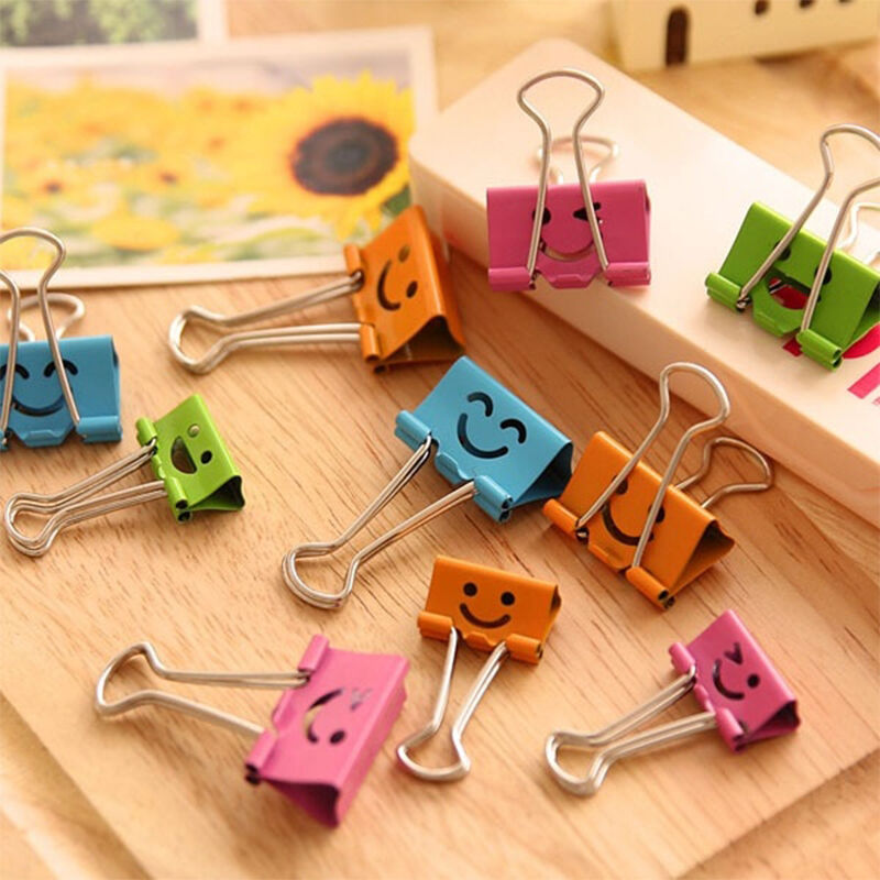 20PCS Study Office Accessories Tool Color Long Tail Clip