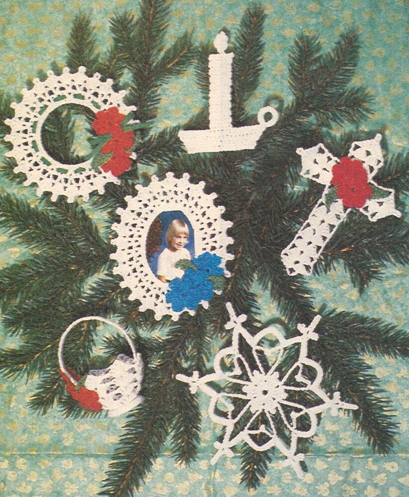 LOVELY Thread Christmas Tree Trims/Decor/Crochet Pattern Instructions ...