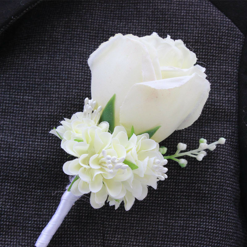 Wedding Flowers Corsage Ideas: Wedding Flower Corsage Groom Best Man Boutonniere Prom