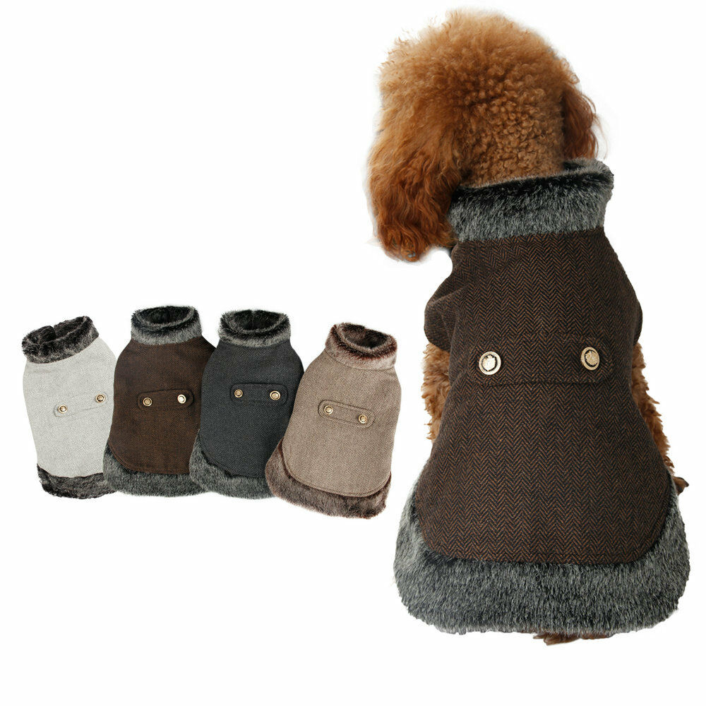 Dog Winter Warm Coat Wool Jacket Puppy Clothes Pet ...