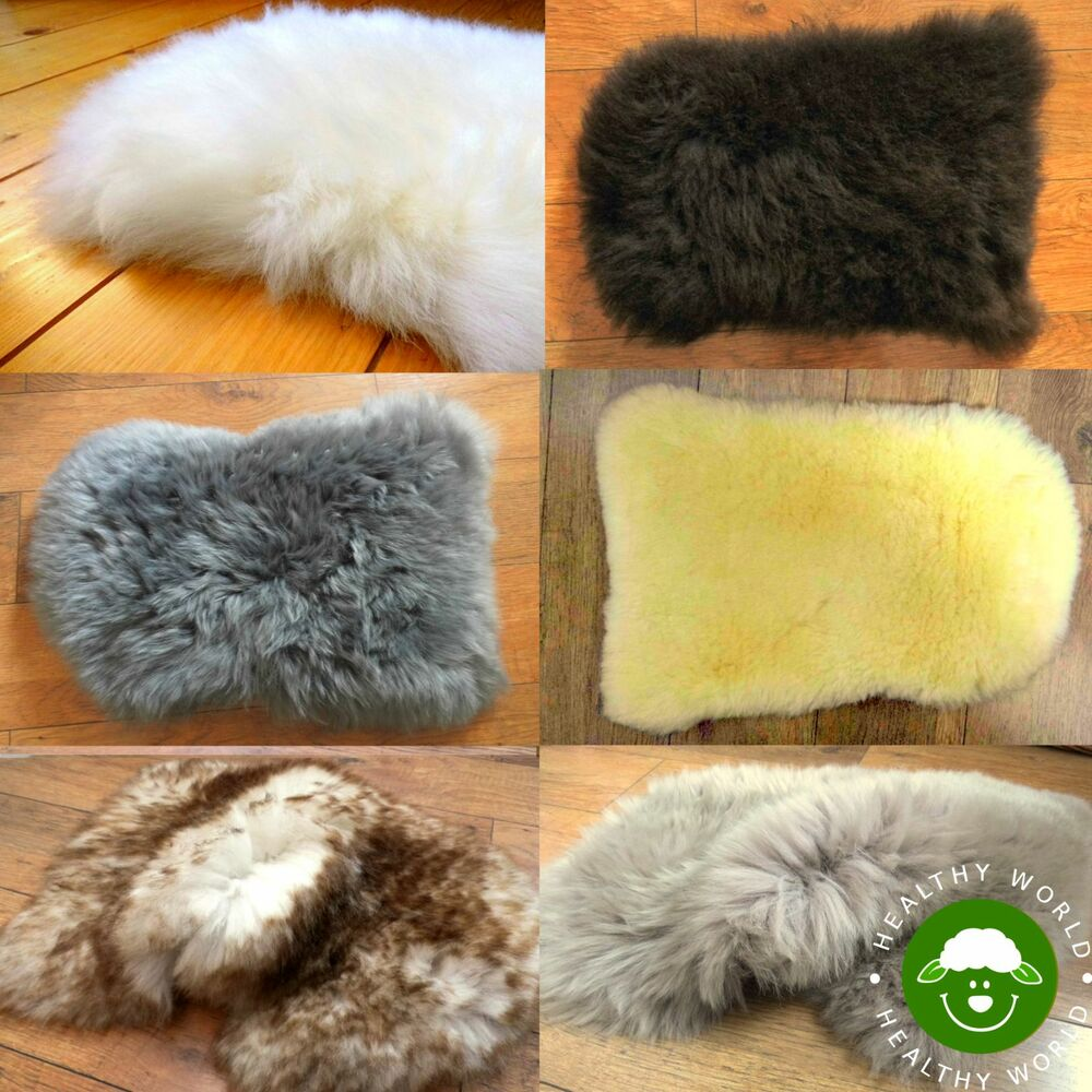 BARGAIN PRICE NOW! SHEEPSKIN Mini Rug Seat COVER Dog Cat