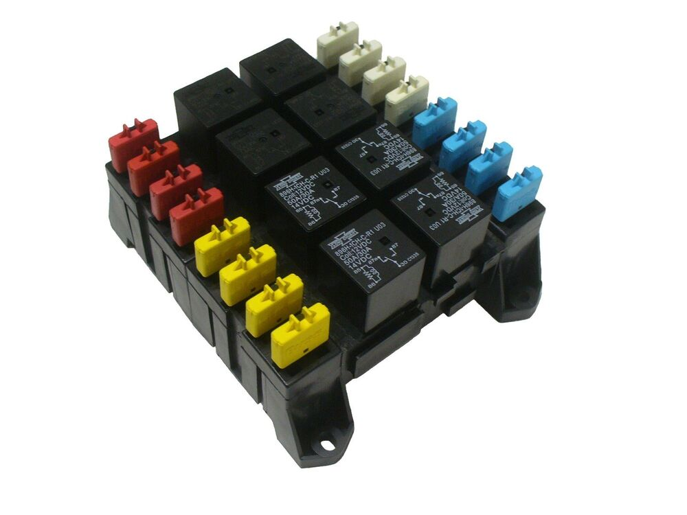 Fuse And Relay Box For Automotive : Atc ato blade fuse and mini relay block panel holder v