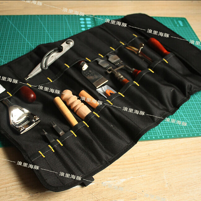 For Leather Craft DIY TOOL Toolkit Pouch Hand Bag Leather ...
