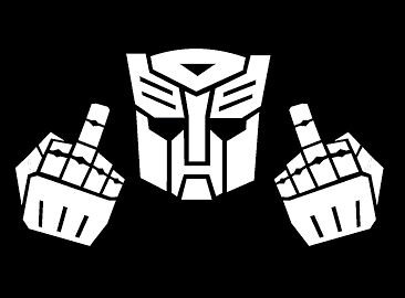 Car Decal Sticker Transformer Autobot With Fingers Ebay
