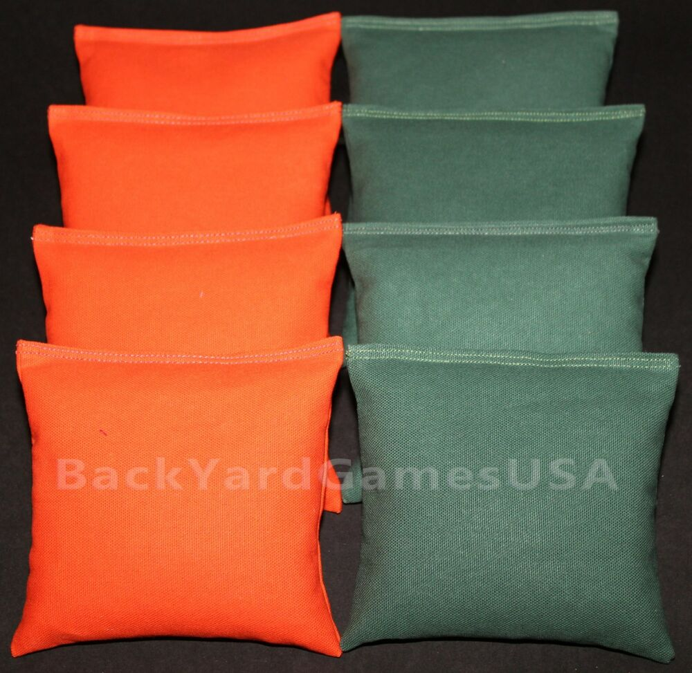 Miami Cornhole Bean Bags Orange Amp Green 8 Aca Regulation