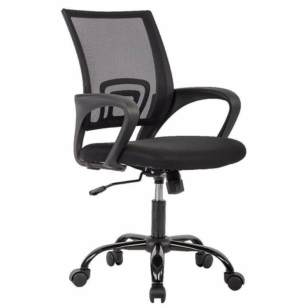 Black Ergonomic Mesh Computer Office Desk Midback Task ...