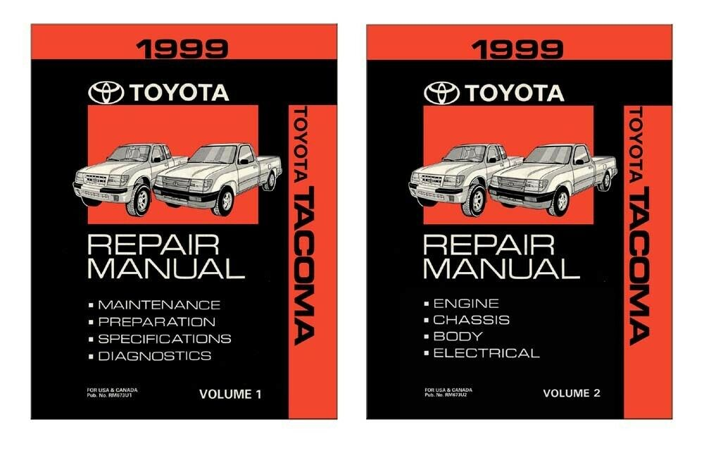 1999 toyota tacoma shop service repair manual book ebay. Black Bedroom Furniture Sets. Home Design Ideas