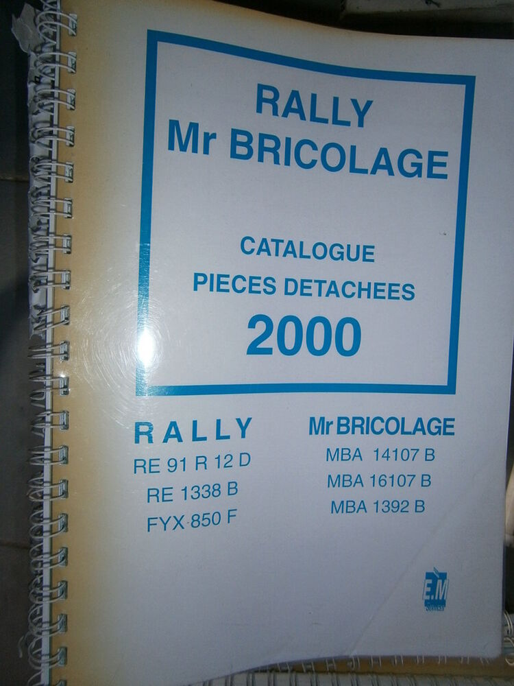 rally mr bricolage tracteur catalogue pi ces 2000 ebay. Black Bedroom Furniture Sets. Home Design Ideas