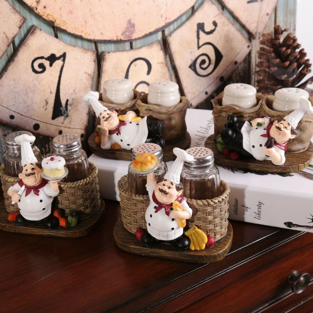 Chef Decor For Kitchen: 1pc Kitchen Restaurant Decorative Resin Chef Cook Figurine