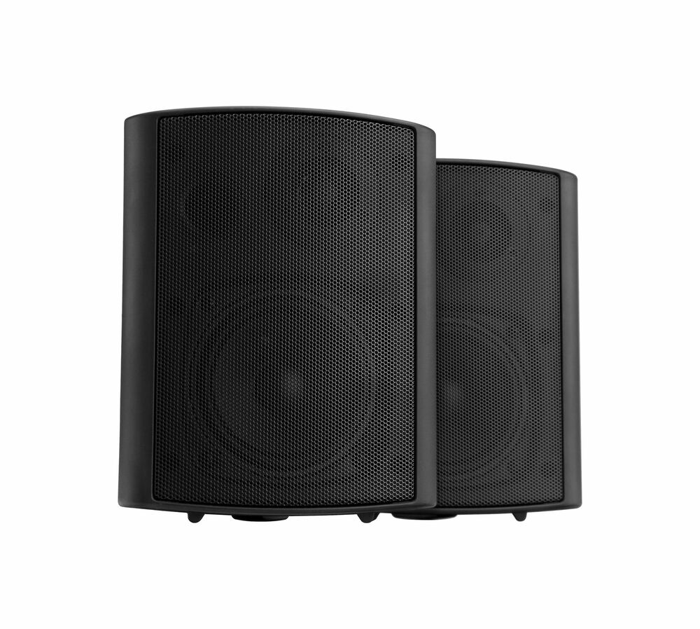 paar 4 13cm gastronomie wand lautsprecher hifi boxen outdoor speaker 120w ebay. Black Bedroom Furniture Sets. Home Design Ideas