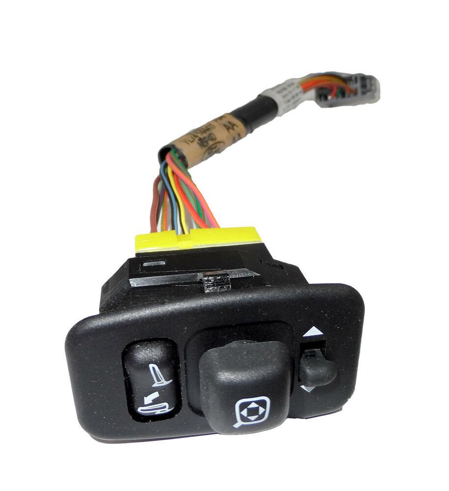 New Oem Power Fold Driver Side Mirror Switch W Wire