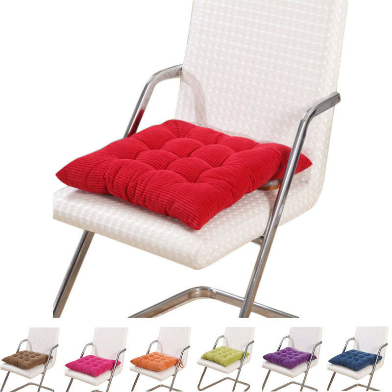 Dining Garden Patio Chair Office Seat Pads Corduroy Thickened Chair Pads Cush