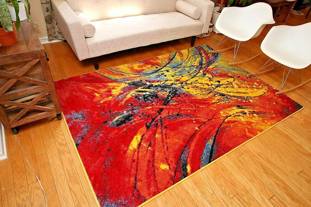 Rugs area rugs carpet flooring area rug floor decor modern colorful rugs new ebay