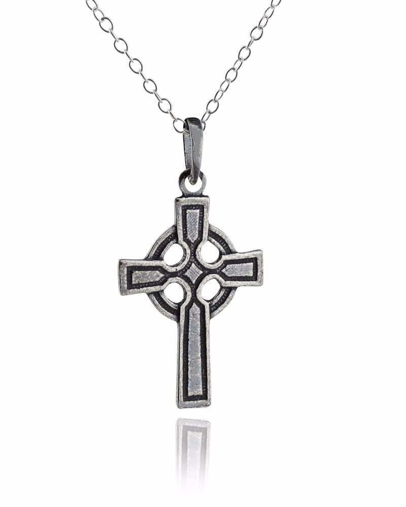 celtic cross necklace 925 sterling silver irish celtic. Black Bedroom Furniture Sets. Home Design Ideas