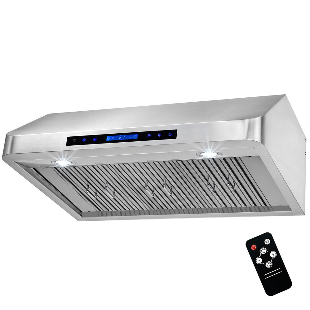36 wall mount stainless steel range hood stove vent for Remote kitchen exhaust fan